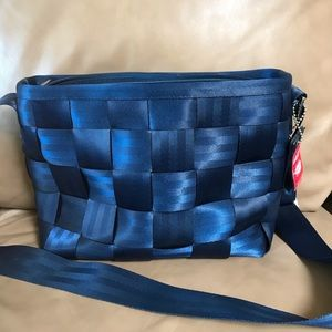 Blue Harveys messenger bag crossbody tote/purse